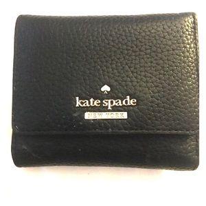Kate Spade ♠️ tri-fold leather wallet